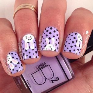 Cute and Easy Easter Nail Art Design Ideas 20