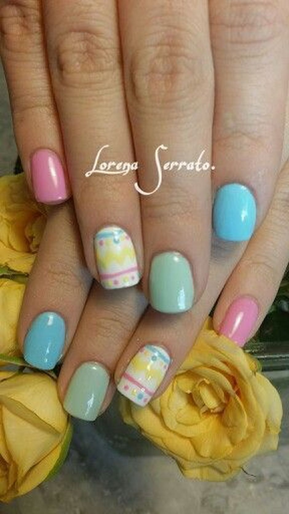 55 Easy and Cute Easter Nail Art Design Ideas - Fashion Best