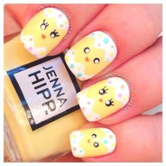 Cute and Easy Easter Nail Art Design Ideas 26