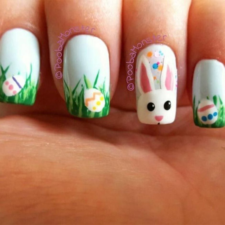 Cute and Easy Easter Nail Art Design Ideas 28