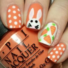 Cute and Easy Easter Nail Art Design Ideas 29