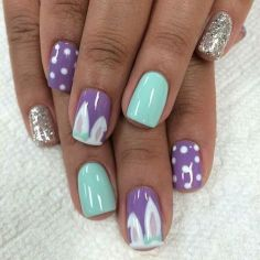 Cute and Easy Easter Nail Art Design Ideas 33