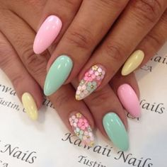 Cute and Easy Easter Nail Art Design Ideas 34