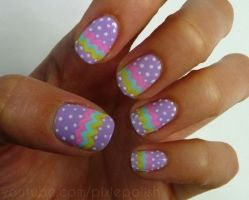 Cute and Easy Easter Nail Art Design Ideas 37