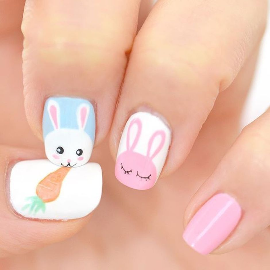 Cute and Easy Easter Nail Art Design Ideas 44