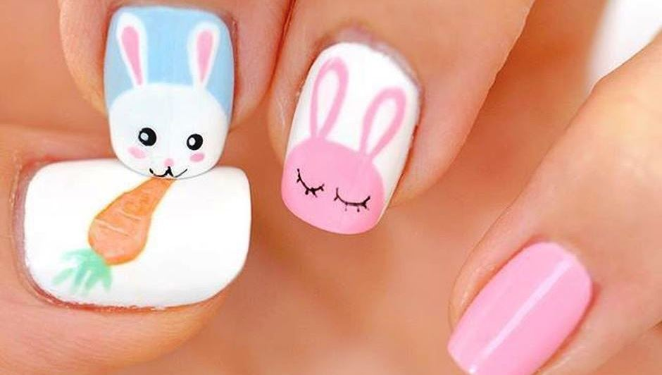 Cute and Easy Easter Nail Art Design