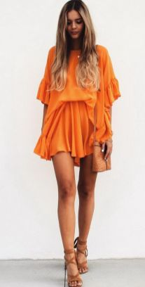 55 Orange Outfit Ideas That Make You Look Young and Fresh 8