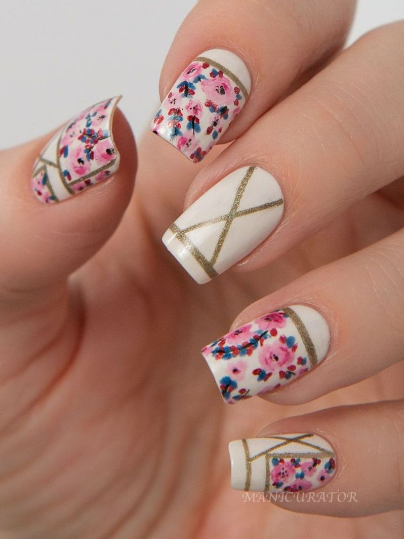 30 best inspirations floral nail art design fashion best awesome floral nails design ideas 11 izmirmasajfo