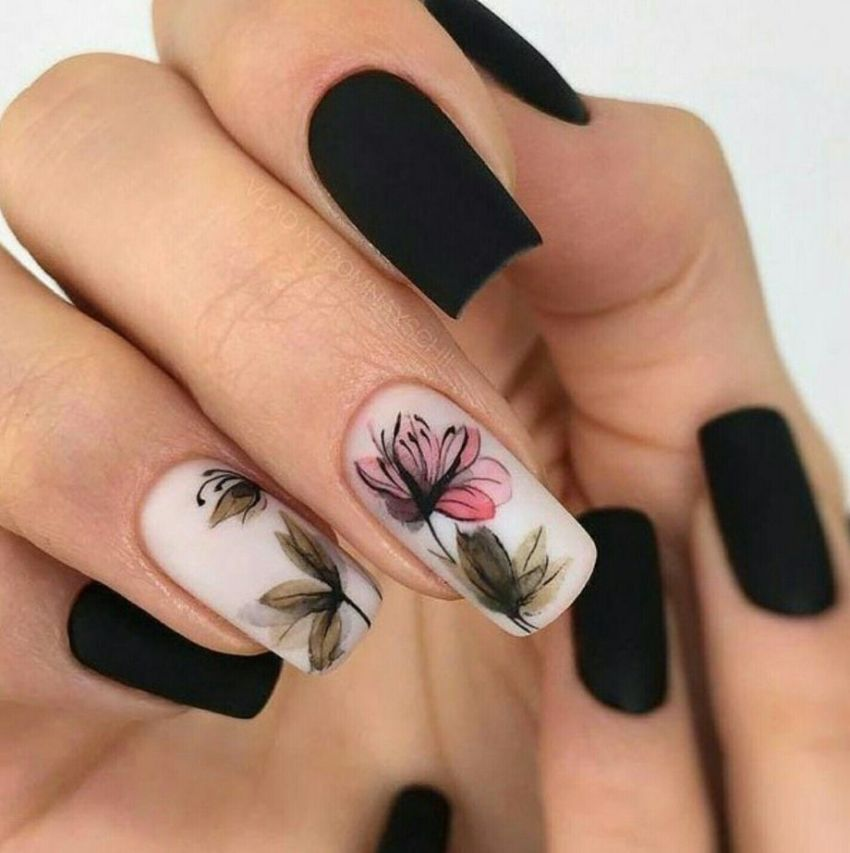Awesome Floral Nails Design Ideas 21 - Awesome Floral Nails Design Ideas 21 - Fashion Best