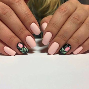 Awesome Floral Nails Design Ideas 29