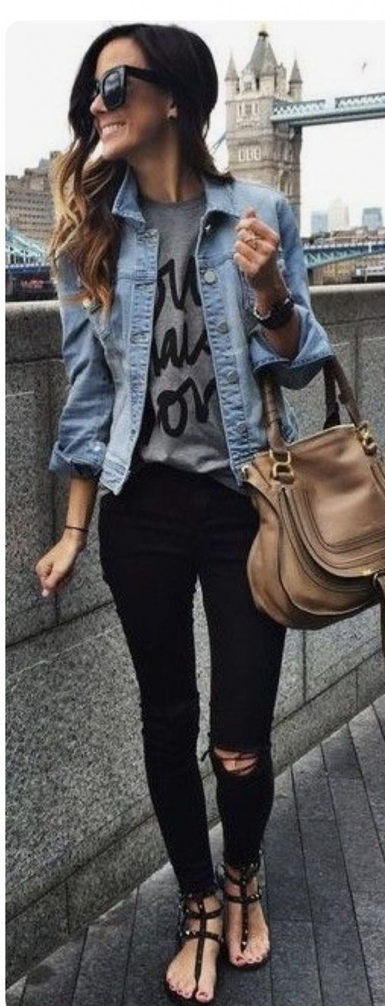 Denim Jacket Outfits Inspirations for Girl 11