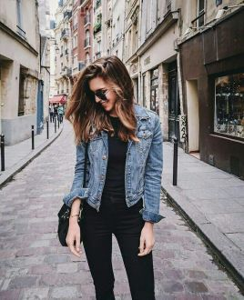 Denim Jacket Outfits Inspirations for Girl 4