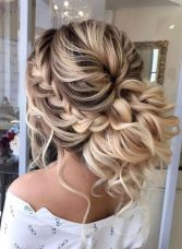 simpe but classy bridal hair do 16