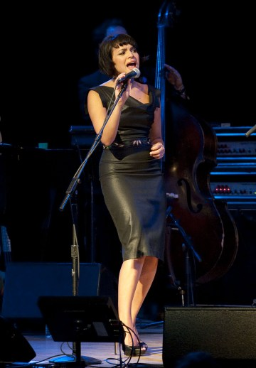 NEW YORK, NY - MAY 12: (EXCLUSIVE COVERAGE) Norah Jones performs during the celebration of the music of Kate McGarrigle at Town Hall on May 12, 2011 in New York City. (Photo by Eugene Gologursky/Getty Images)