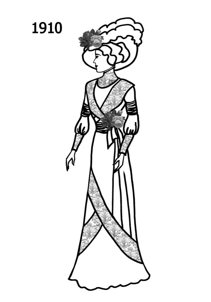theglamouraidecoration: 1910 Fashion For Women