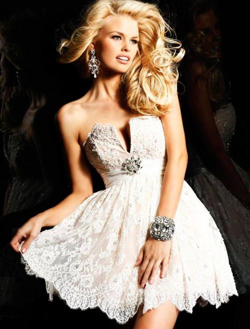 short wedding dress: collection 2018 photo 17