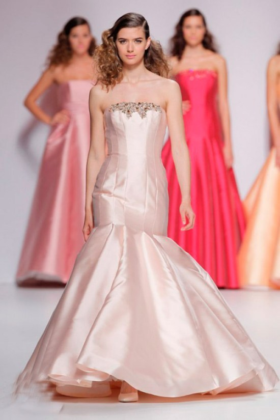 Pink Cymbeline Wedding Dress with Rhinestones
