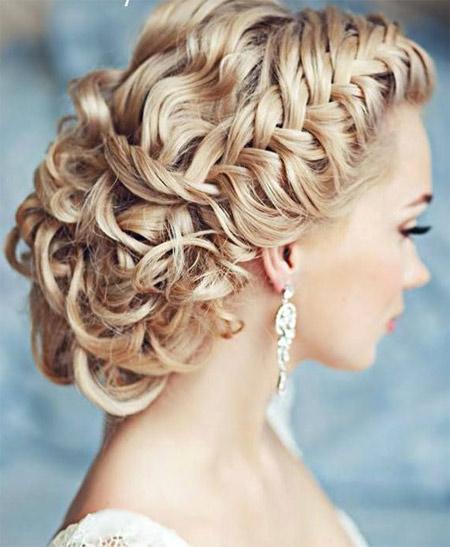 wedding hairstyle with a scythe photo 6