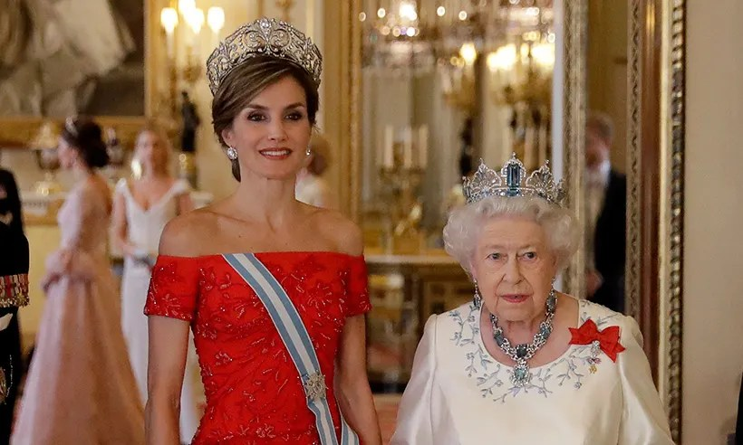 Duchess Kate and Queen Letizia dazzle at the Queens state