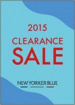 NEWYORKER BLUE クリアランスセール開催