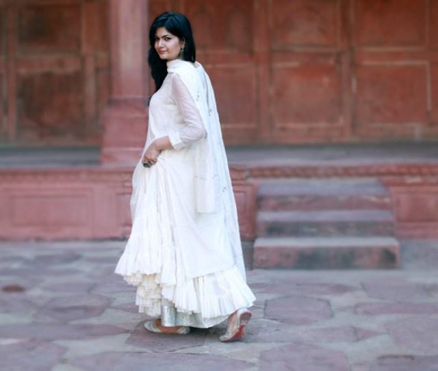 Da  C B White Indian Outfit