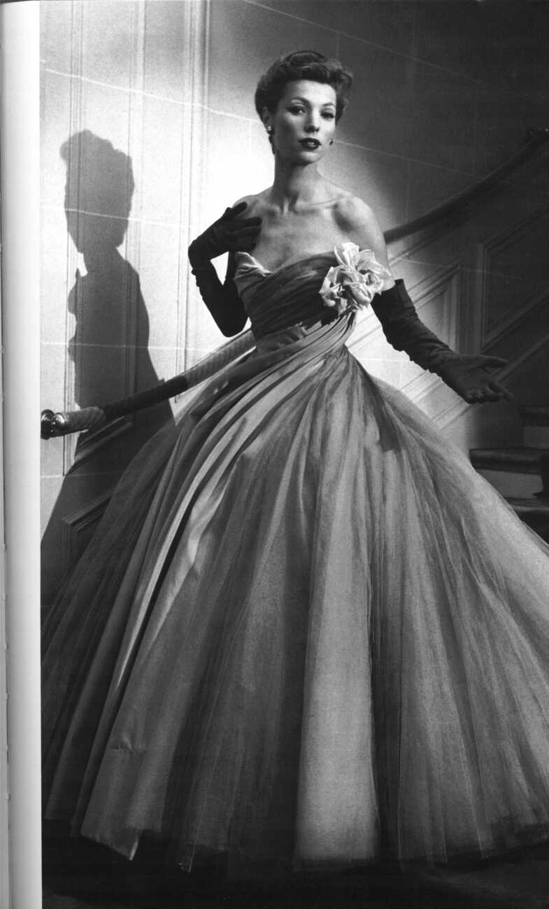 Mame Fashion Dictionary: Christian Dior Evening Dress 1950s