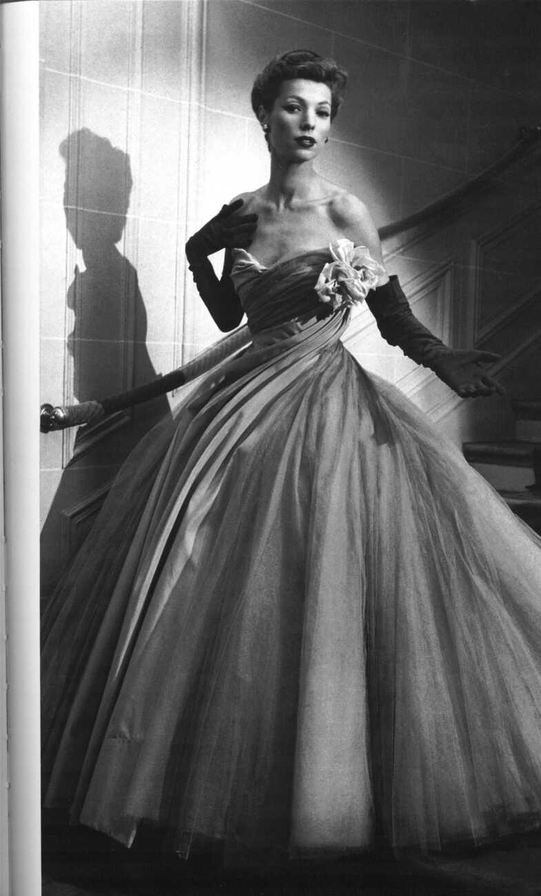 Mame Fashion Dictionary: Christian Dior Evening Dress 1950s