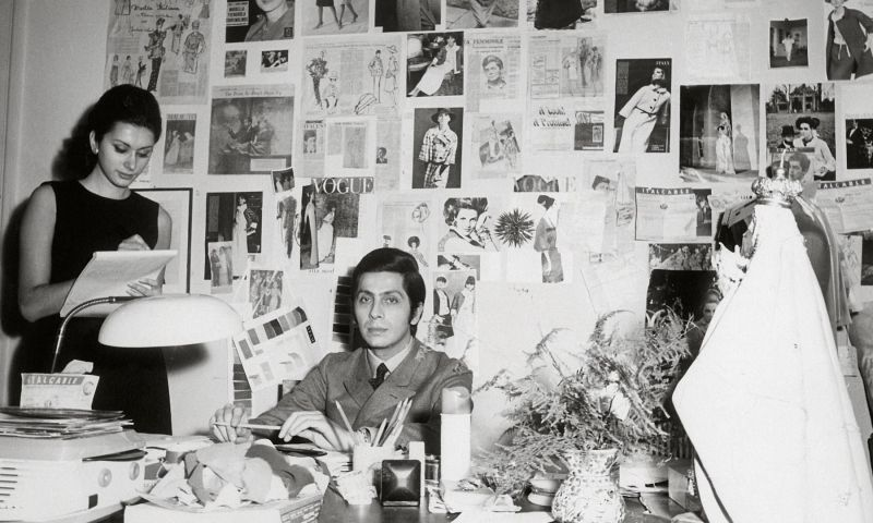 Mame Fashion Dictionary: Valentino Young Designer at his Studio