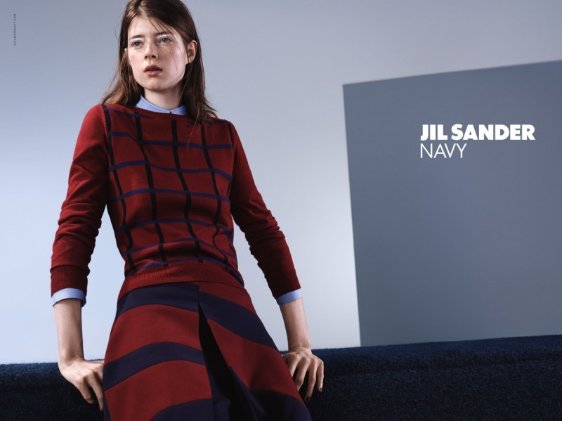 Jil Sander Jessica Burley FW15 Campaign