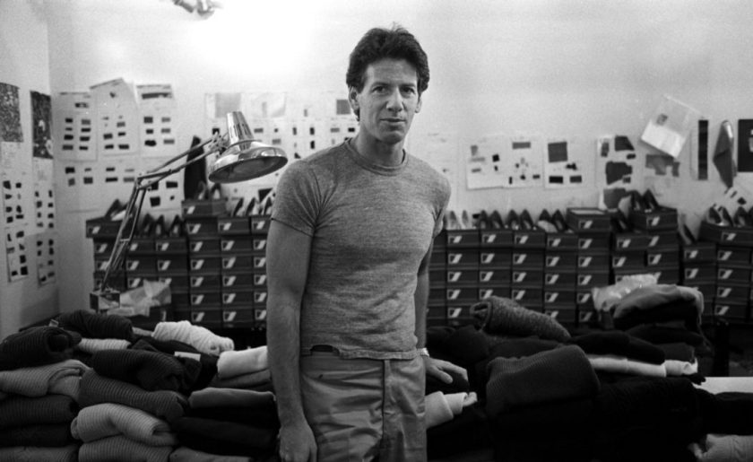 Calvin Klein at his Studio in 1980