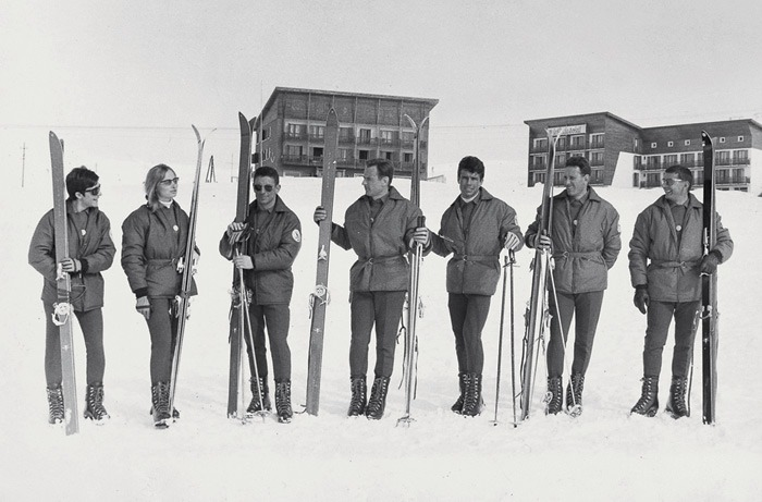 The French National Ski Team Wearing Moncler 1966