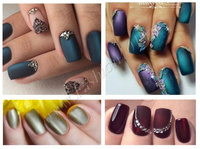 матовые ногти дизайн 1