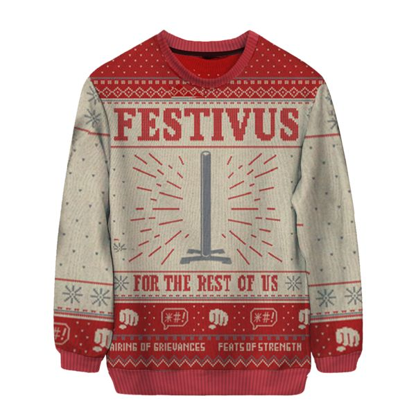 Festivus Sweater Ugly Holiday Sweaters Holiday Fury