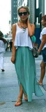 turquoise-pleated-maxi-skirt