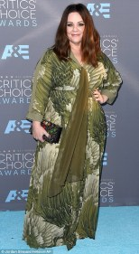 Melissa McCarthy in a dress she designed herself
