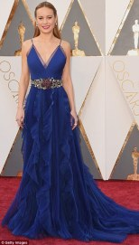 Brie Larson in Gucci gown