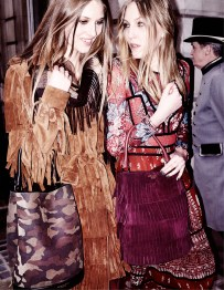 Florence Kosky and Ella Richards in the Burberry Autumn_Winter 2015 Campaign - on embargo until Tuesday 23 June 00_01am BST