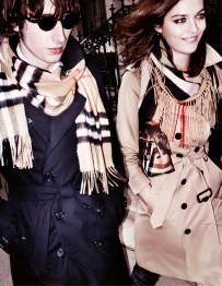 Ranald MacDonald and Amber Anderson in the Burberry Autumn_Winter 2015 Campaign - on embargo until Tuesday 23 June 00_01am BST
