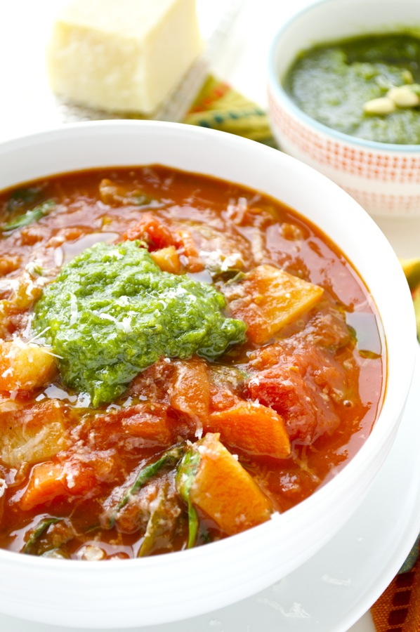 Italian Vegetable Stew Close Up
