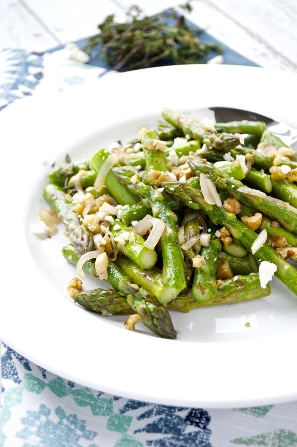 Asparagus Feta Walnuts