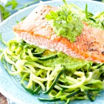 Salmon with Pea Pesto