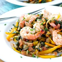 Shrimp and Swiss Chard Saute