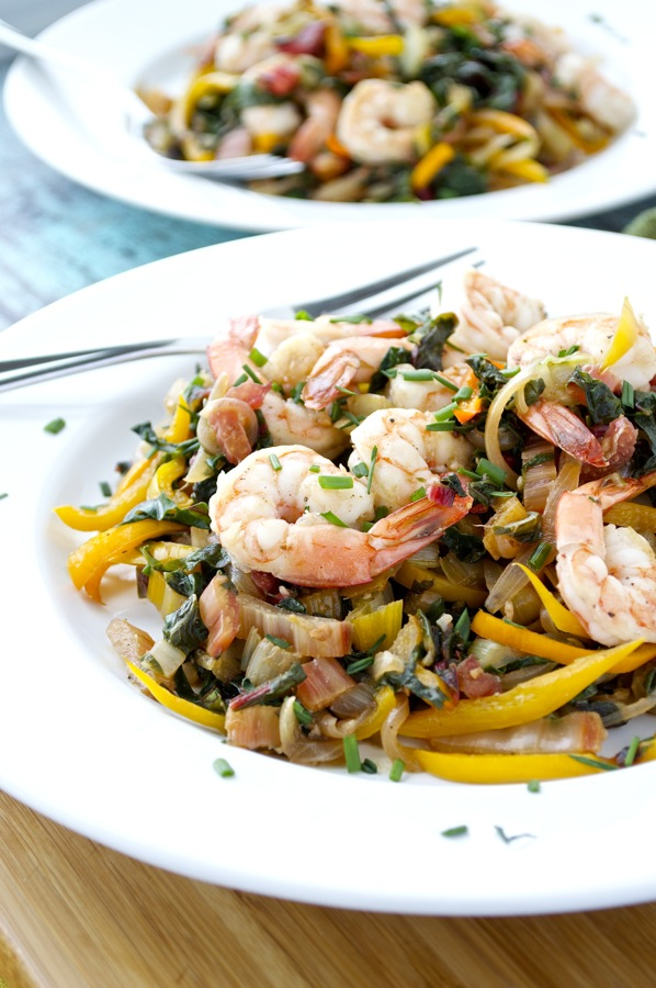 Swiss Chard and Shrimp