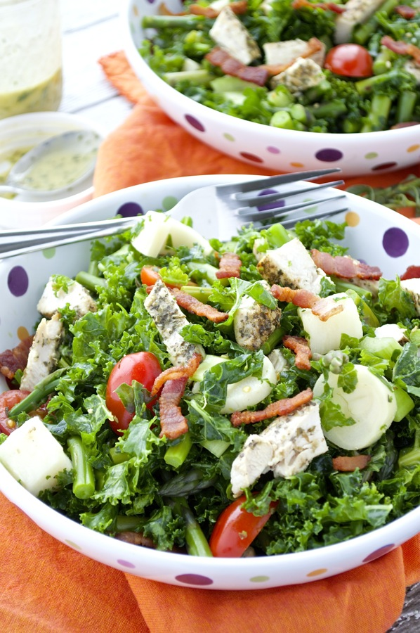 Kale Chopped Salad and Green Goddess Dressing
