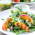 Grilled Peach and Arugula Salad