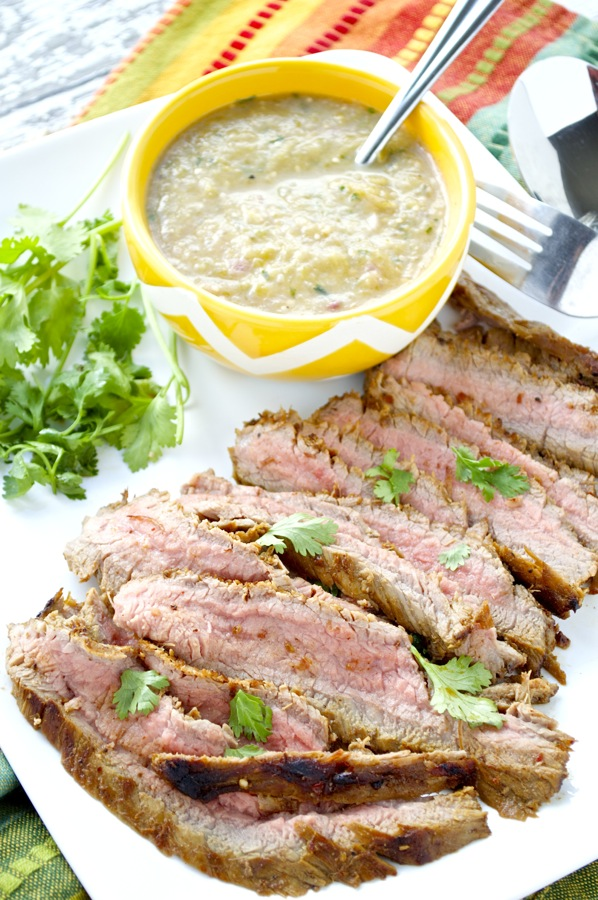 Carne Asada and Salsa Verde