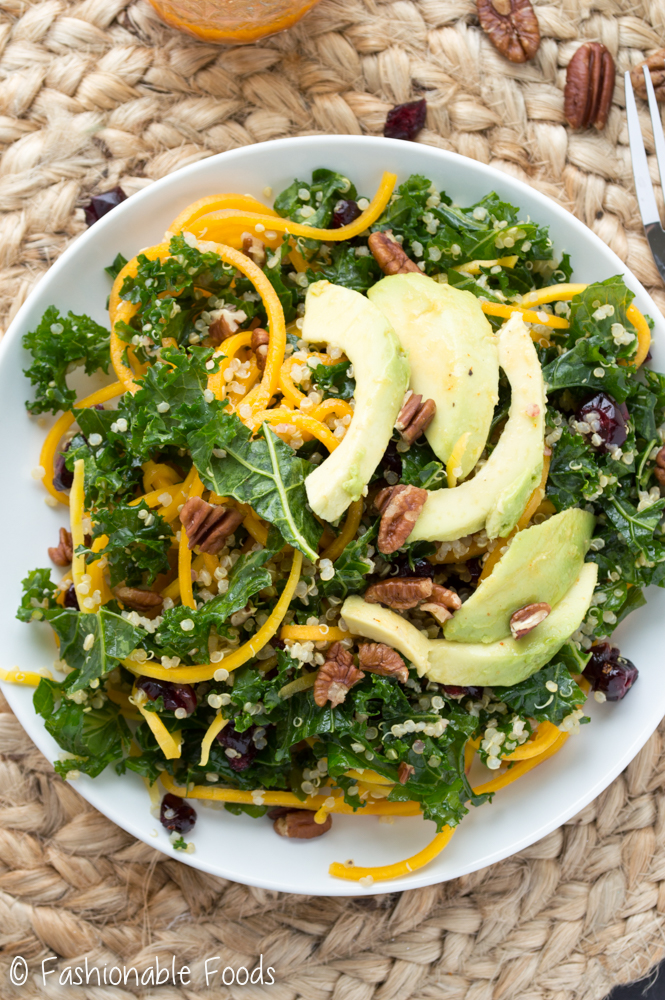 Butternut Squash Salad with Kale_