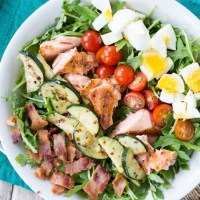 Grilled Salmon Cobb Salad {Whole 30}