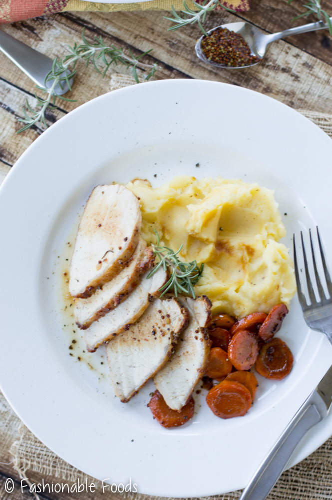 apple-glazed-pork-tenderloin-with-carrots-and-roasted-garlic-mashed-potatoes