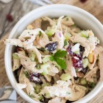 Leftover Turkey, Cranberry, and Almond Salad